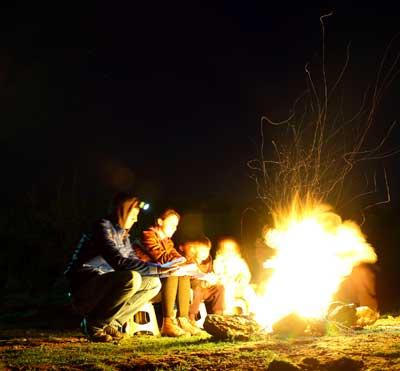 Counselors camping