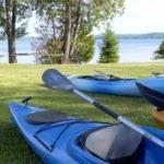 Kayaking and water sports at summer camp