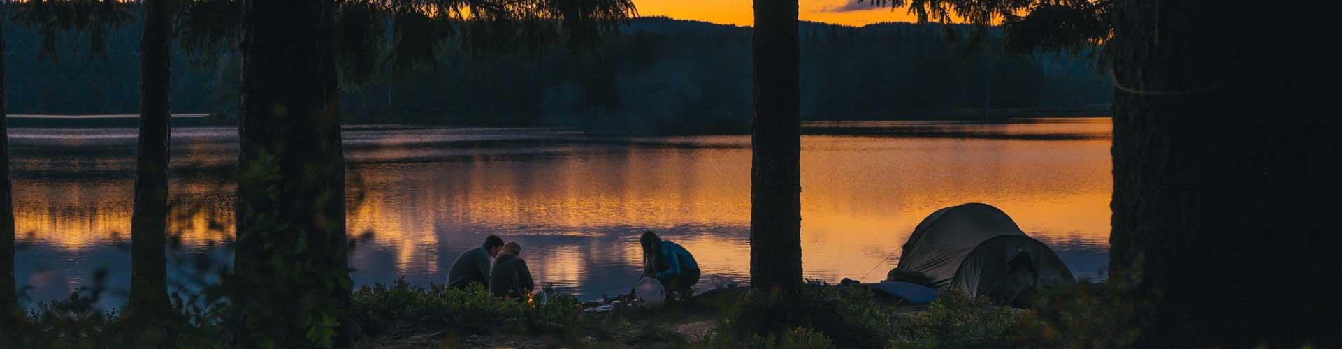 campfire at a Maine summer camp